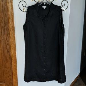 Garnet Hill Sleeveless Black Dress (10)